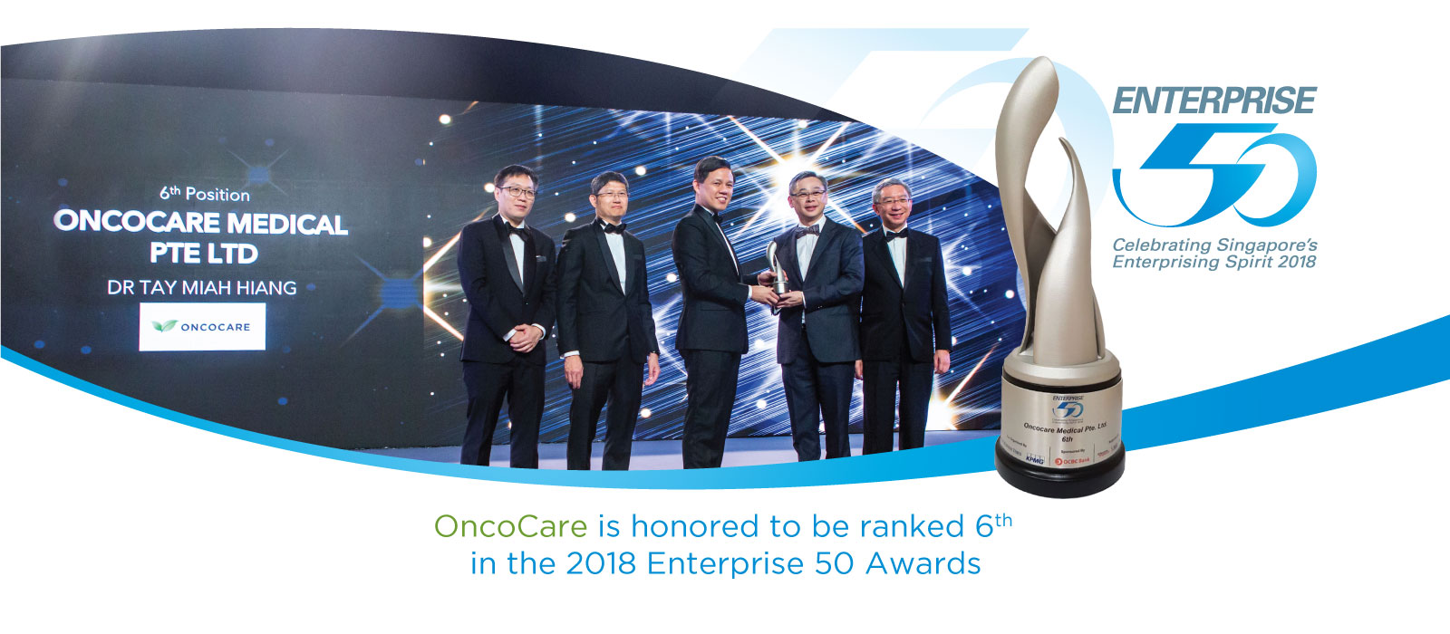 OncoCare awarded Enterprise 50 Awards of the year 2018