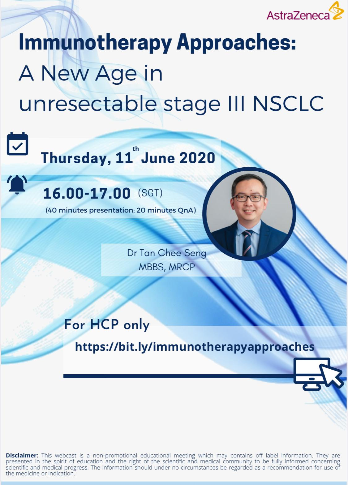 A New Age in unresectable stage III NSCLC (Non-Small-Cell Lung Carcinoma)