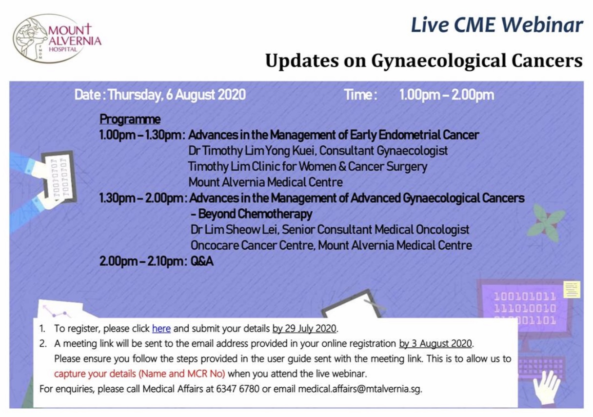 Updates on Gynaecological Cancers - Live CME Webinar