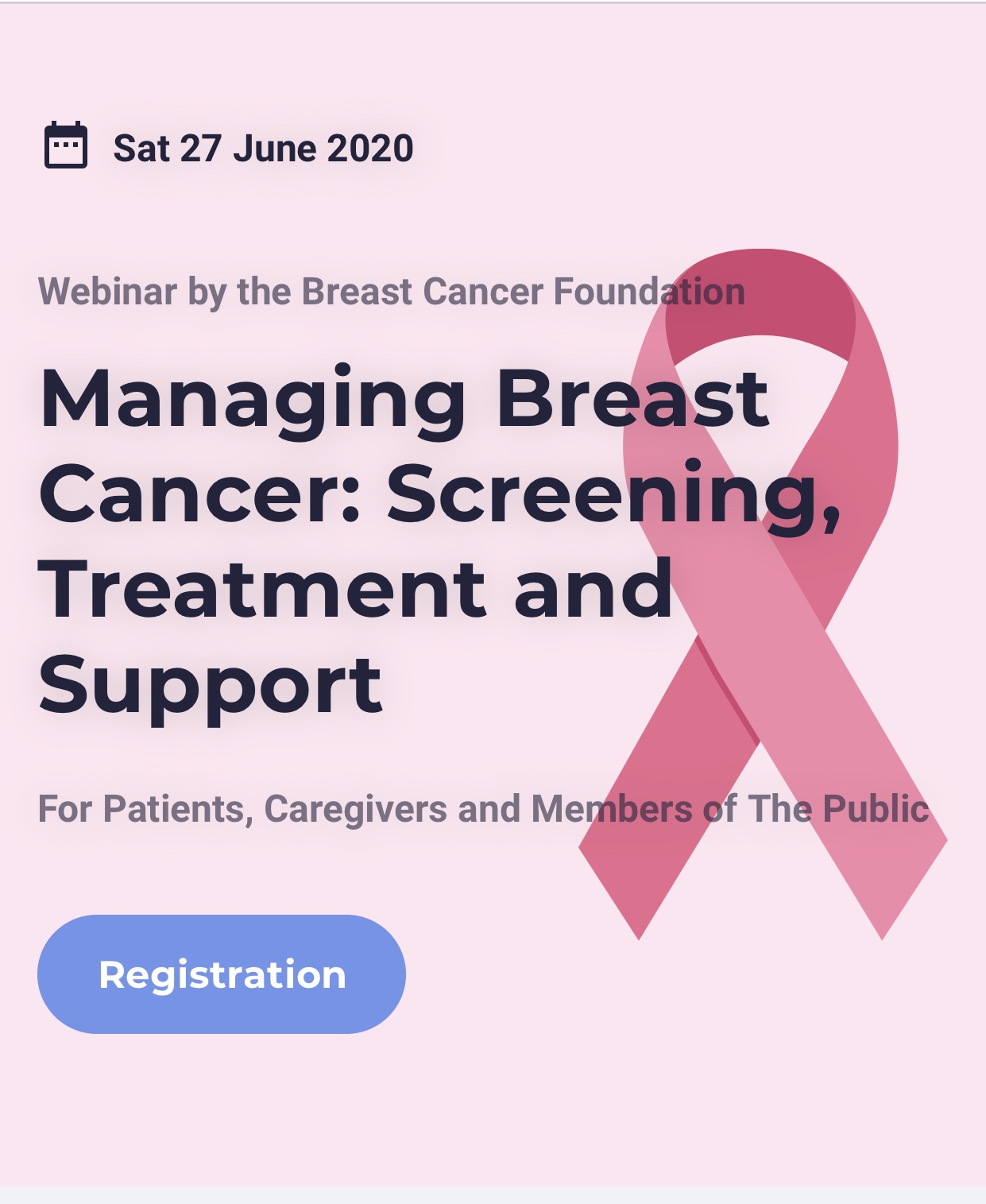 Breast Cancer Talk for public on Webinar