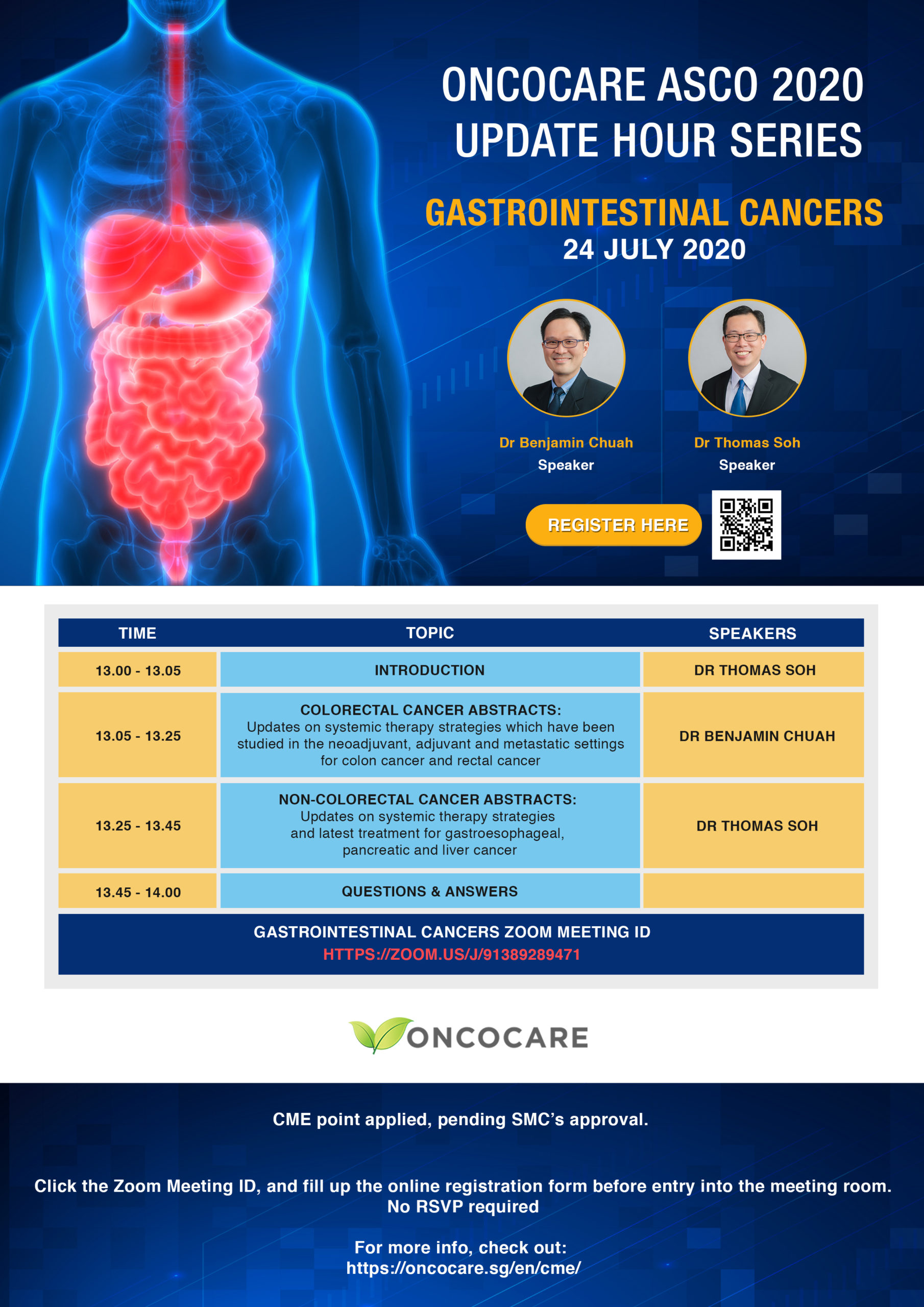 OncoCare ASCO 2020 Updates Hour on GASTROINTESTINAL (GI) CANCERS